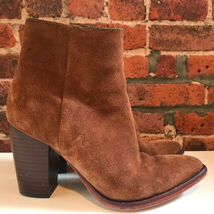 SAM EDELMAN WOMEN'S BROWN SUEDE ANKLE BOOT